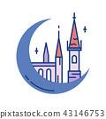 Castle Line Color Icon 43146753