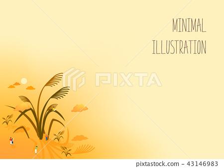 秋天的極簡主義插圖 43146983