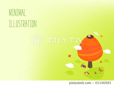秋天的極簡主義插圖 43146993