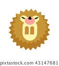 Hedgehog flat illustration 43147681