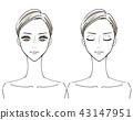 女性的脸 43147951