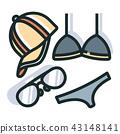 Summer accessories Line Color Icon 43148141