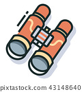 Sightseeing Line Color Icon 43148640