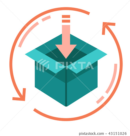 Packing flat illustration 43151026