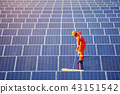 Engineers are checking the solar panel maintenance 43151542