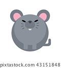 Rat flat illustration 43151848