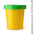 Yellow plastic food container 43153119