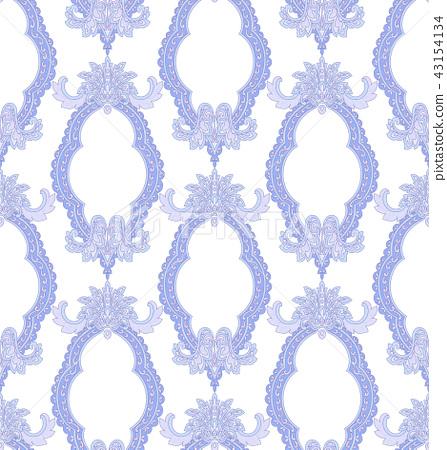 驚豔的巴洛克佩茲利無縫圖案 43154134