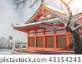 Red Pagoda at Kiyomizu-dera temple. 43154243