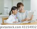 부모와 자식 태블릿 PC 43154932
