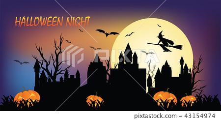 Halloween night concepts,Dark silhouette 43154974