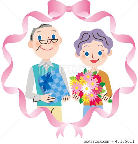 เคารพในวันผู้สูงอายุและริบบิ้น 43155011
