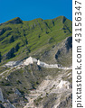 Marble Quarries of Carrara in the Apuan Alps Italy 43156347