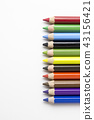 pencils on white background. Free royalty images. 43156421