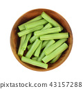 Top view of Green beans 43157288