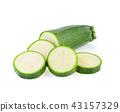 zucchini isolated on white background 43157329