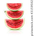 Watermelon pyramid 43159502