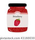 딸기 잼 일러스트 43160030