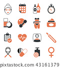icon, health, woman 43161379