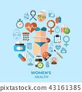 icon, health, woman 43161385