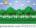 Forest landscape , Nature background 43163172