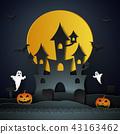 万圣节 城堡 月亮 43163462