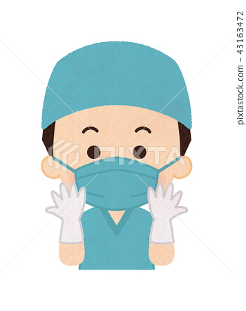 穿外科禮服的醫生人 43163472