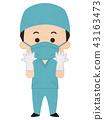 의사, 수술복, 수술 43163473