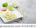 Bean sprouts in white plate. 43163853