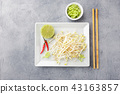 Bean sprouts in white plate. 43163857