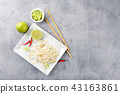 Bean sprouts in white plate. 43163861