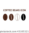 Collection of coffee bean icon 43165321