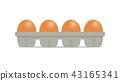 Fresh chicken eggs in package 43165341