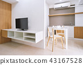 Modern living room decoration built-in furniture 43167528