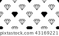 diamond gem seamless pattern vector isolated 43169221