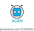 Alien face icon vector logo and symbols 43169261