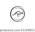 Kangaroo jump animal logo and symbols 43169855