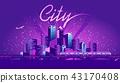 neon metropolis vector 43170408