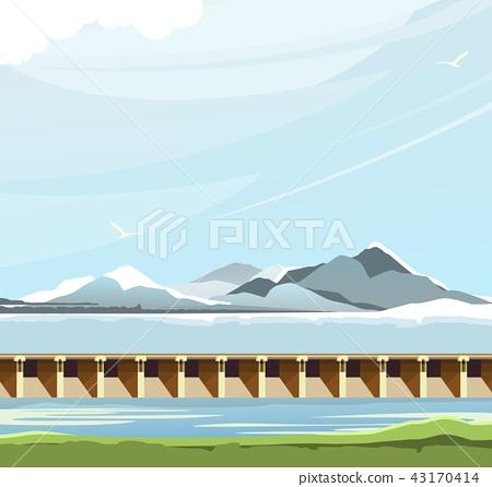dam water landscape 43170414