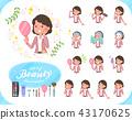 flat type Pink jacket Middle women_beauty 43170625
