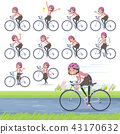 flat type Pink jacket Middle women_road bike 43170632