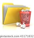 bin, document, garbage 43171632