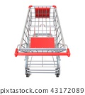 Shopping cart, top view. 3D 43172089