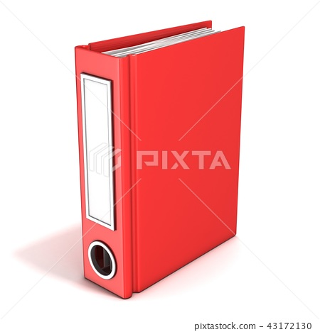 Red office folder, standing. 3D 43172130