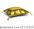 Royal old gold pillow. 3D 43172255