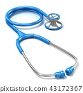 Blue stethoscope, 3D 43172367