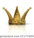 Golden crown isolated 43172469