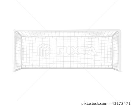 Football - soccer gate. 3D 43172471