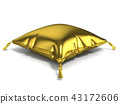 Royal golden pillow. 3D 43172606
