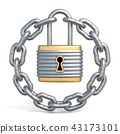 Circle chain with lock 3D 43173101